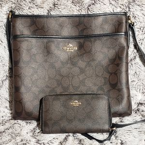 Coach Crossbody Purse & Wallet Set